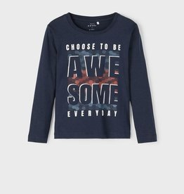 Name It T-shirt navy awesone