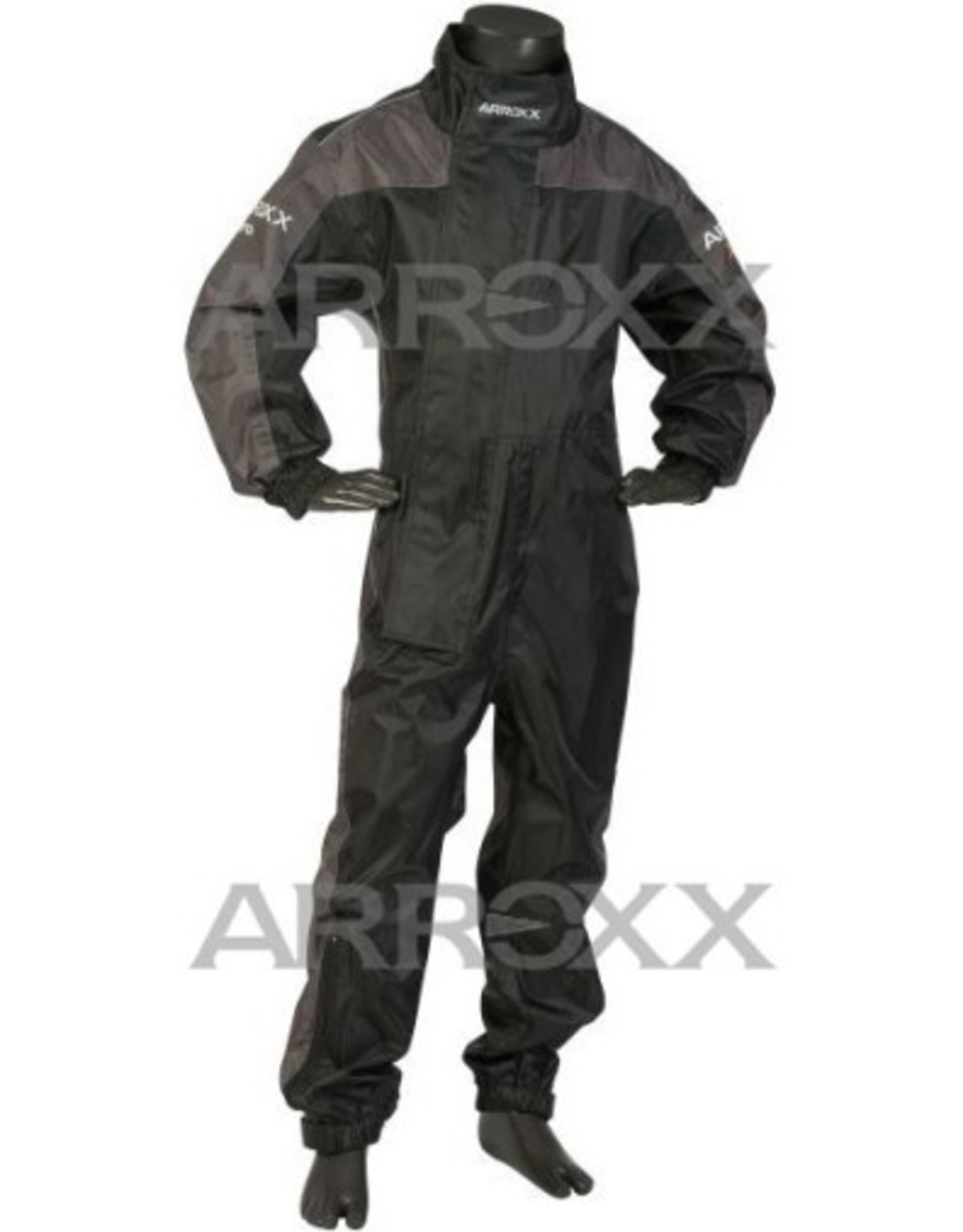 Arroxx Arroxx regenoverall Xpro Junior zwart / grijs