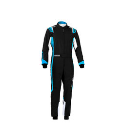 Sparco Sparco thunder overall kids zwart/blauw