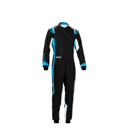 Sparco Sparco thunder overall zwart/blauw