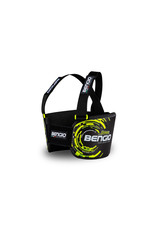 Bengio Bengio bumper rib beschermer zwart/fluor geel