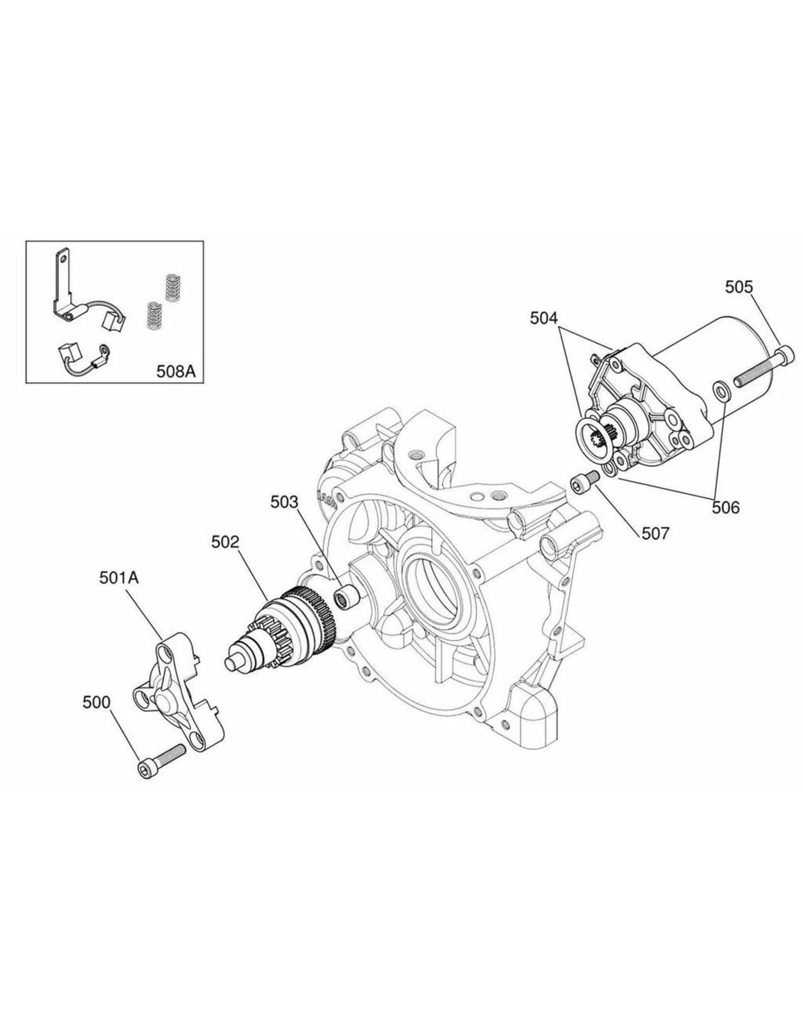 Iame Iame X30 start motor revisie set origineel