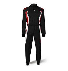Speed Racewear Speed LVL2 Overall RS-3 Barcelona zwart/wit/rood