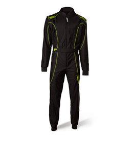 Speed Racewear Speed LVL2 Overall RS-1 Barcelona zwart/fluor geel