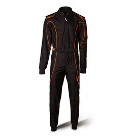 Speed Racewear Speed LVL2 Overall RS-1 Barcelona zwart/fluor oranje