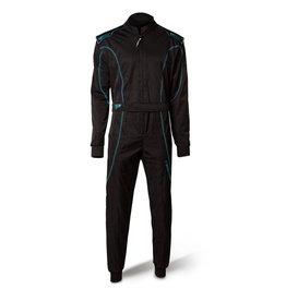 Speed Racewear Speed LVL2 Overall RS-1 Barcelona zwart/fluor cyan