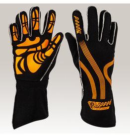 Speed Racewear Speed handschoenen Adelaide G-1 Zwart/fluor oranje