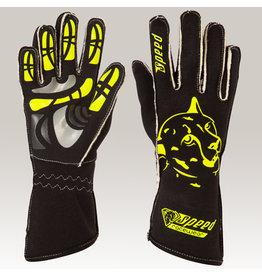 Speed Racewear Speed handschoenen Melbourne G-2 Zwart/fluor geel