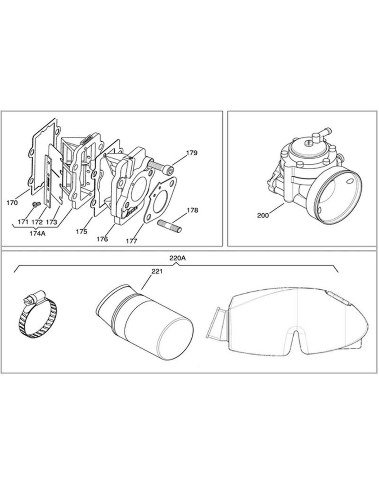 Iame Iame X30 membraan plaat fiberglass (1 pcs)
