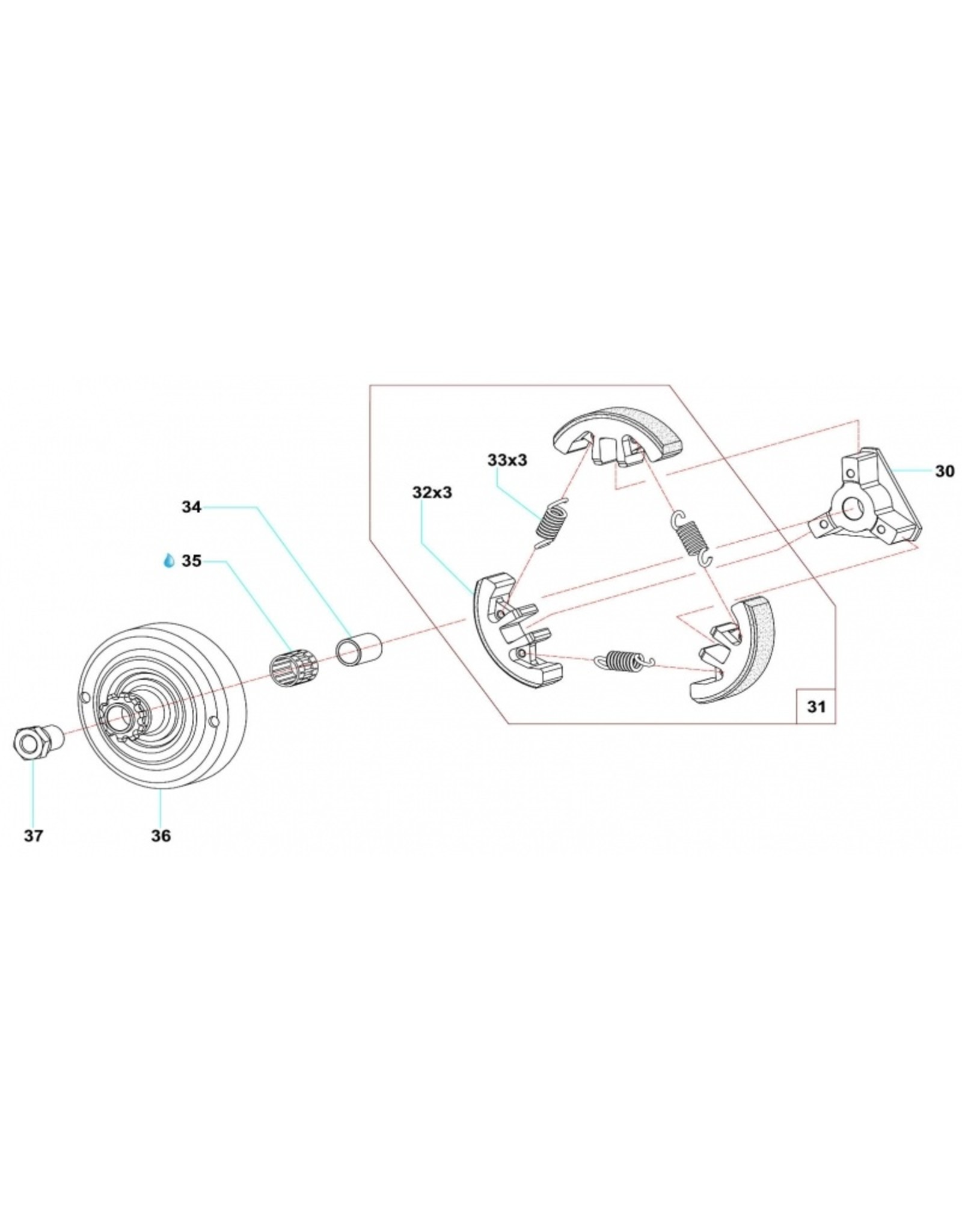 Comer Comer koppeling  C50/S60/S80/W60/K60
