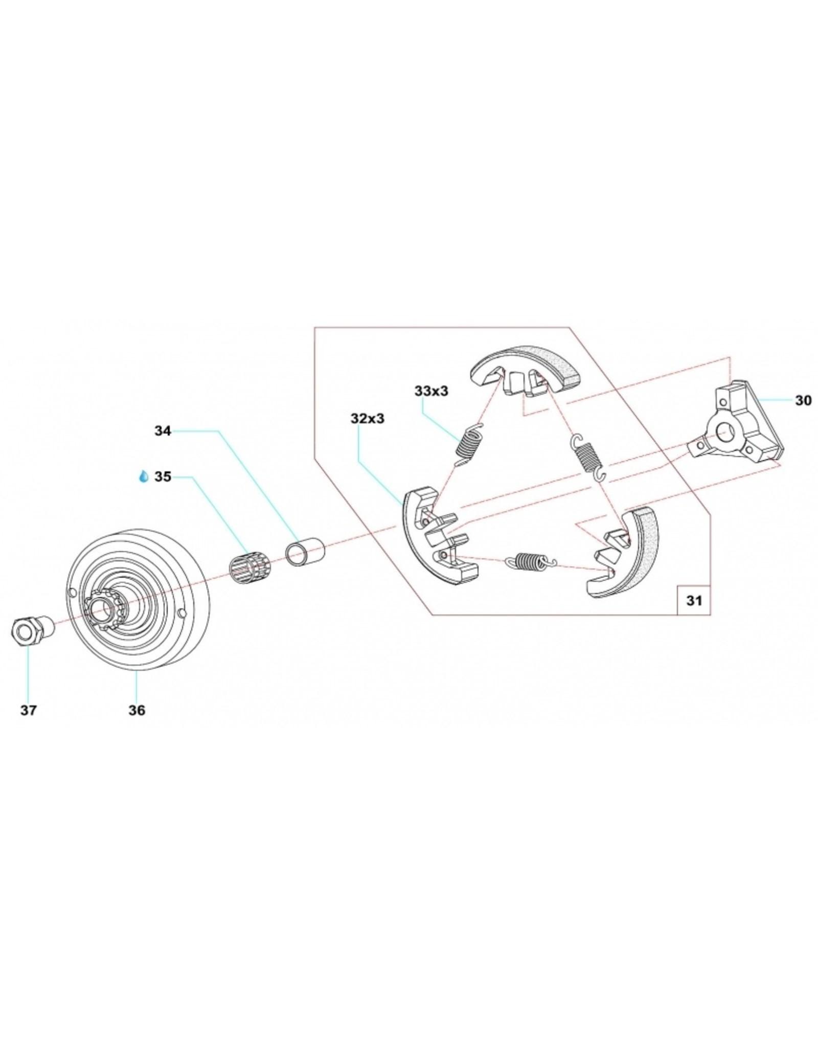 Comer Comer koppeling huis 12 tanden C50/S60/S80/W60/K60