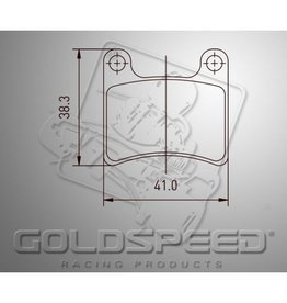 Goldspeed Goldspeed remblokset IPK/ Intrepid front