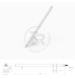 Righetti Ridolfi RR Stuurstang M8 L=420MM