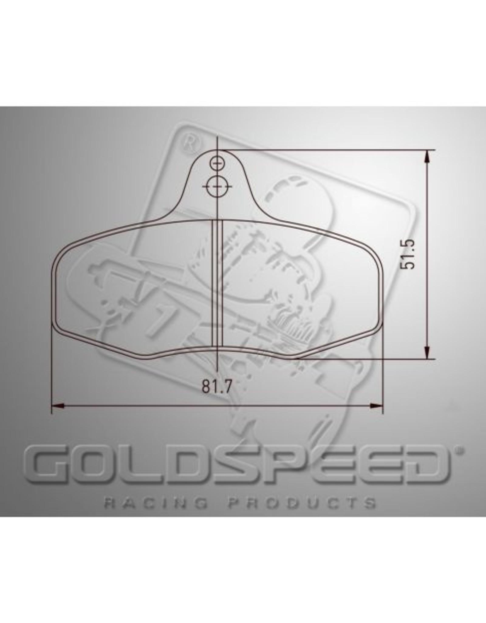 Goldspeed Goldspeed remblokset intrepid evo 3 achter