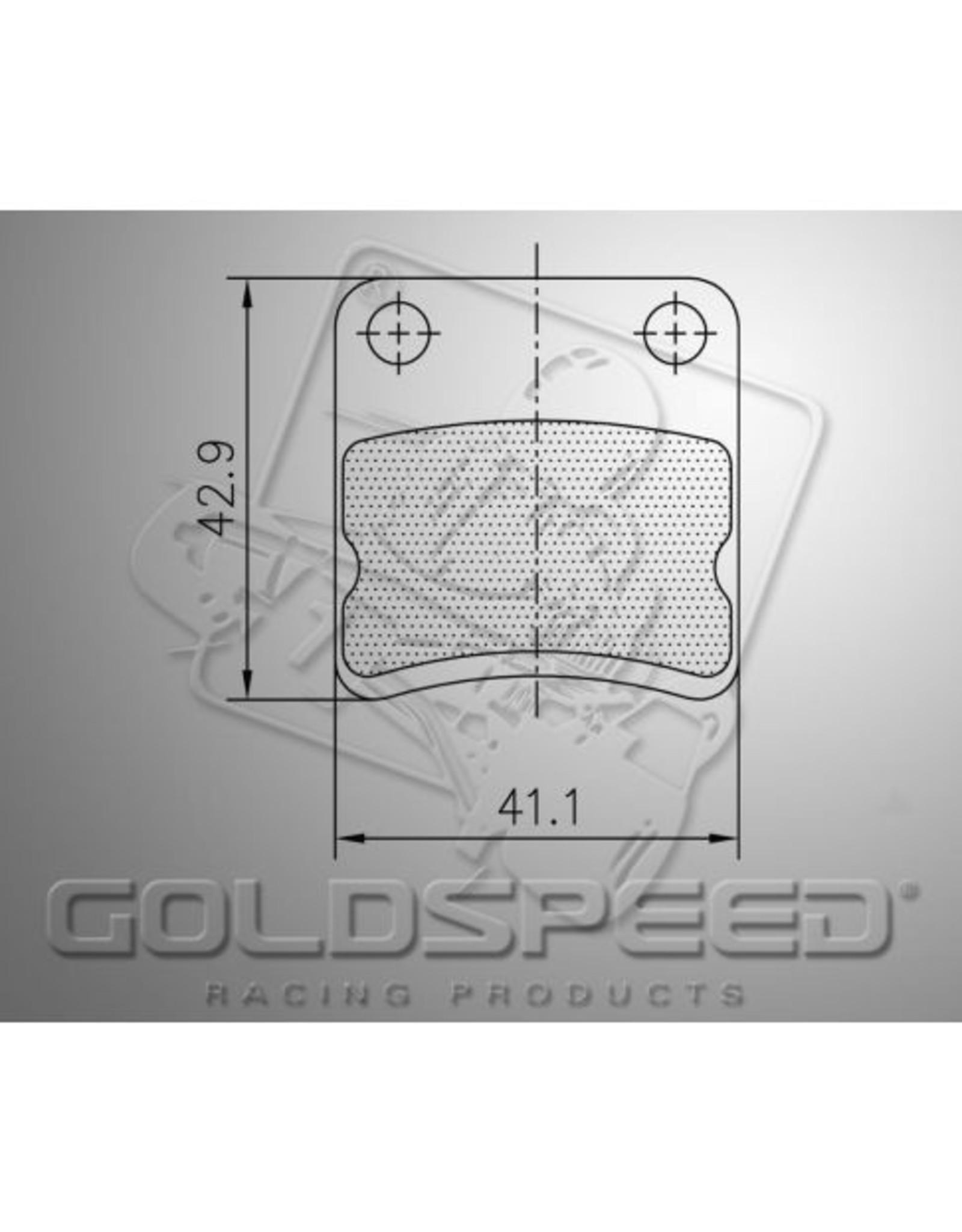 Goldspeed Goldspeed remblokset parolin / energy /first kart voor