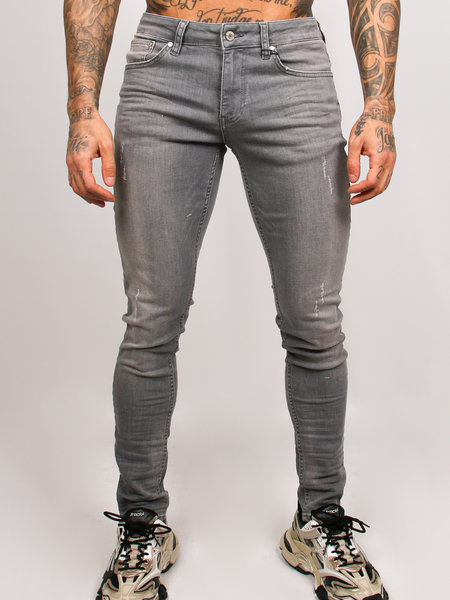 2LEGARE Noah Stretch Jeans Light Grey