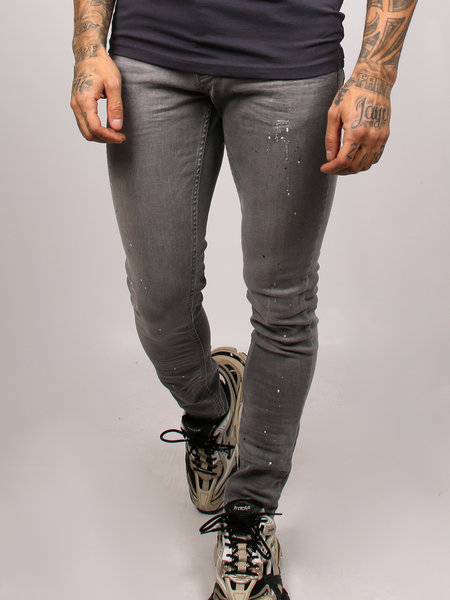 2LEGARE Paint Jeans Light Grey