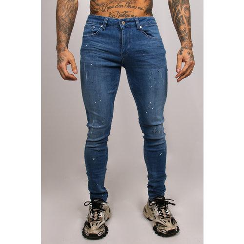 2LEGARE Paint Jeans Light Blue