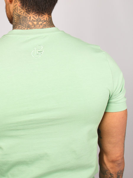 2LEGARE Logo Embroidery Tee - Light Army