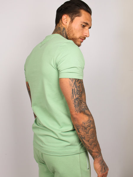 2LEGARE Logo Embroidery T-Shirt - Light Army
