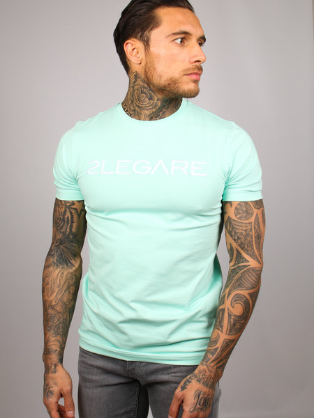 Logo Embroidery Tee - Mint White