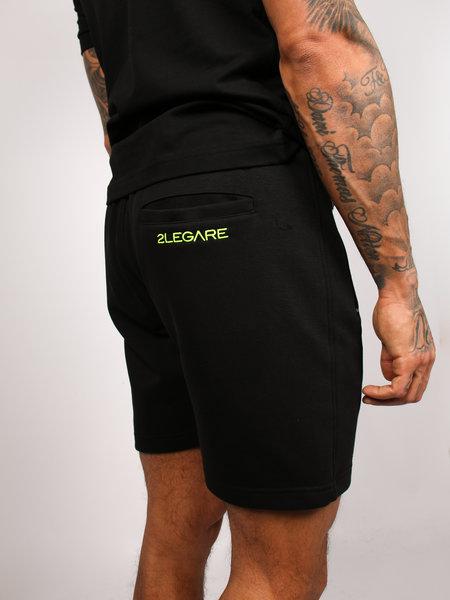 2LEGARE Embroidery Short Black/Neon Green