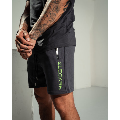 2LEGARE Embroidery Short Antra/Neon Green