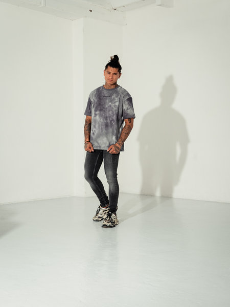 Oversized Tie Dye Tee - Light Grey