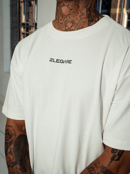 2LEGARE Oversized Tee - Off White