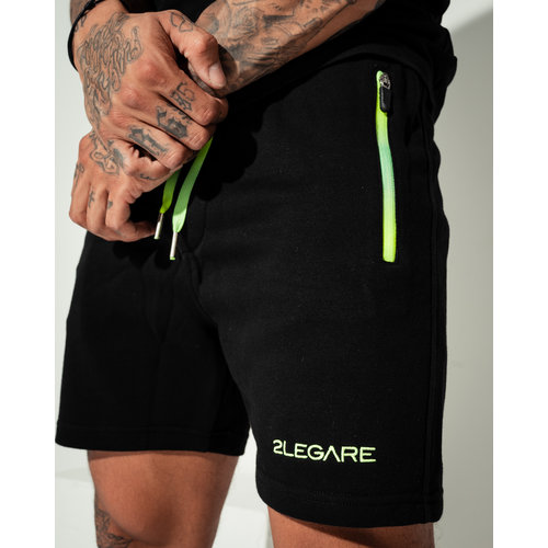 2LEGARE Neon Fade Short Black Neon Yellow/Green