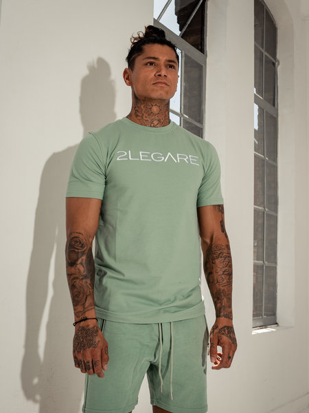 2LEGARE Embroidery T-Shirt - Light Army