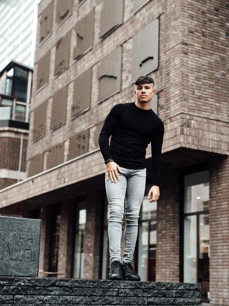 2LEGARE Crewneck Knitwear - Black