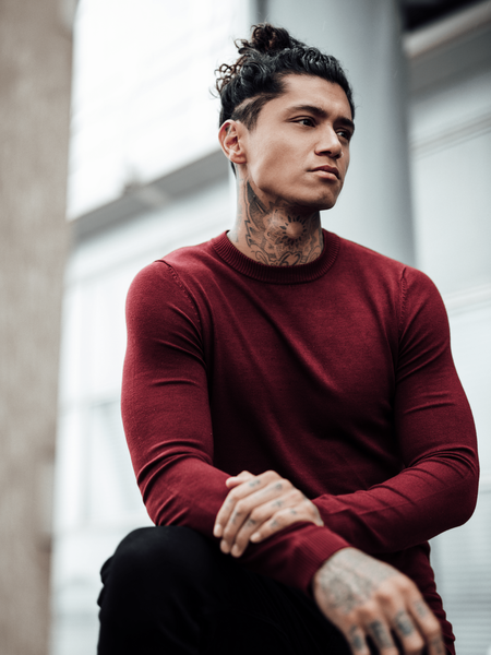 Crewneck Knitwear - Bordeaux
