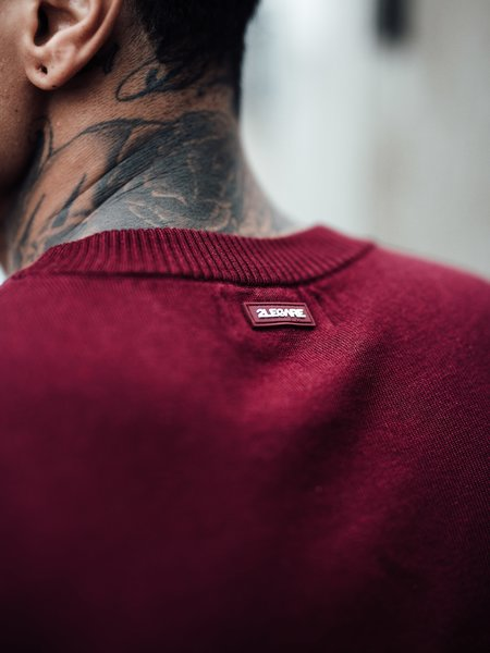 2LEGARE Crewneck Knitwear - Bordeaux