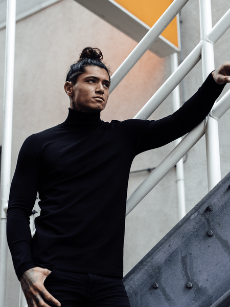 Turtleneck Knitwear - Black