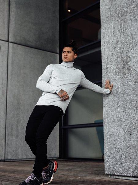 2LEGARE Turtleneck Knitwear - Light Grey
