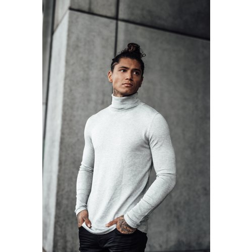 2LEGARE Turtleneck Knitwear - Light Grey