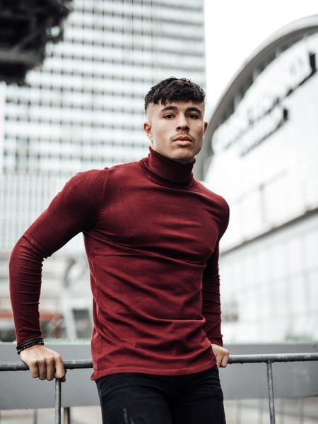 Turtleneck Knitwear - Bordeaux
