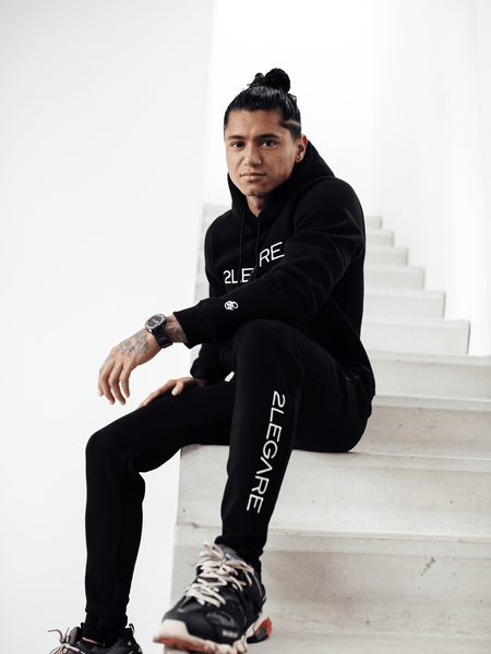 Logo Embroidery Tracksuit - Black/White