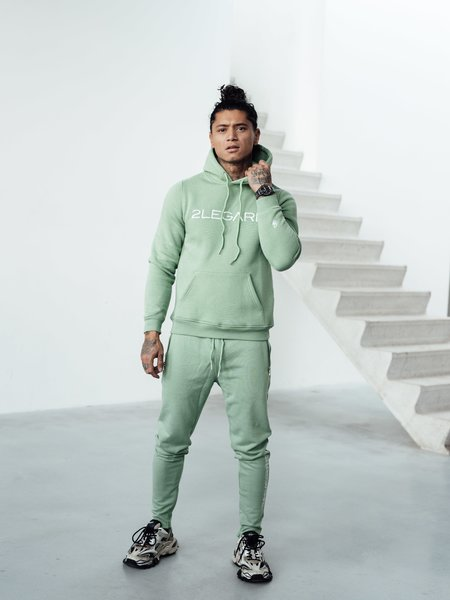 Logo Embroidery Tracksuit - Light Army/White