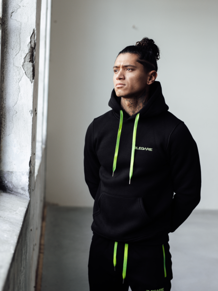 Neon Fade Tracksuit - Black/Yellow
