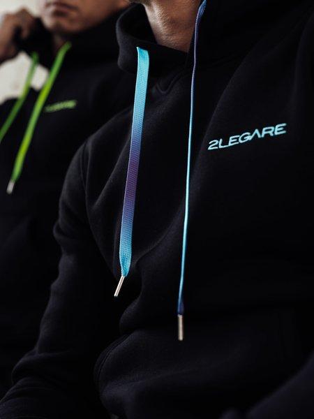 2LEGARE Neon Fade Tracksuit - Black/Kobalt