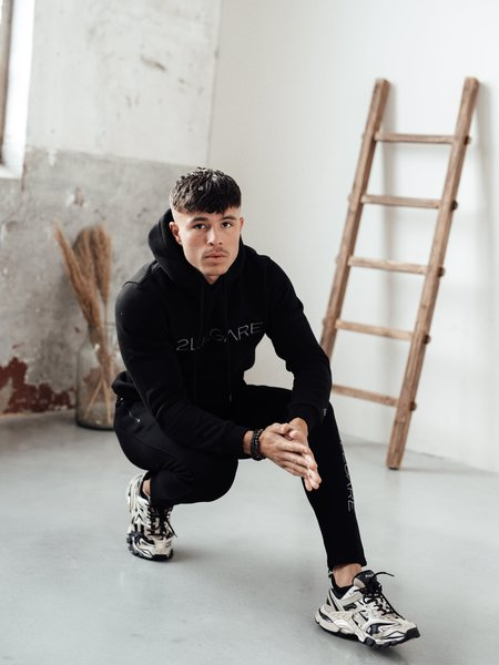 2LEGARE Embroidery Tracksuit - Black/Antra