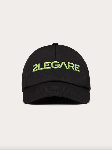 Logo Embroidery Cap - Black/Neon Yellow