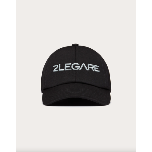 2LEGARE Logo Embroidery Cap - Black/White