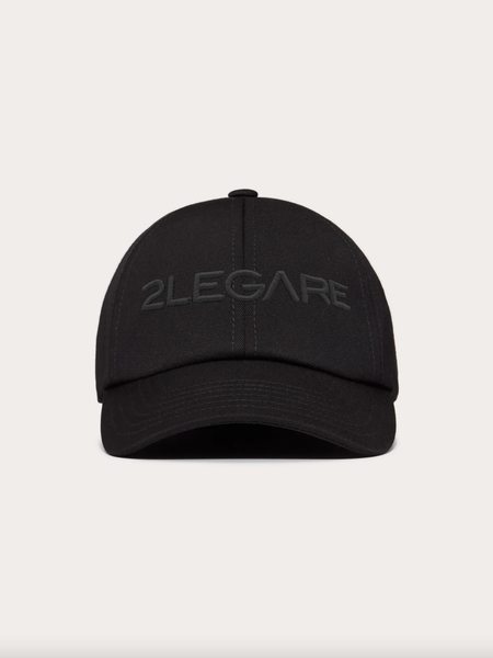 Logo Embroidery Cap - Black/Black