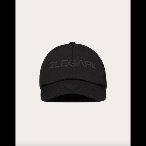2LEGARE Logo Embroidery Cap - Black/Black