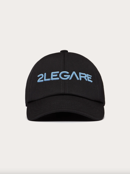 Logo Embroidery Cap - Black/Blue