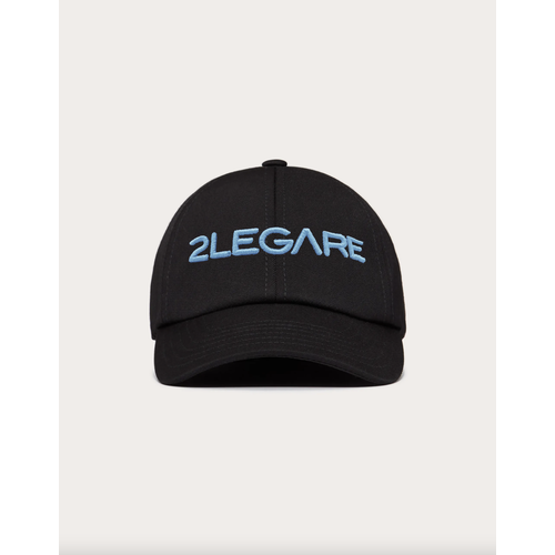 2LEGARE Logo Embroidery Cap - Black/Blue