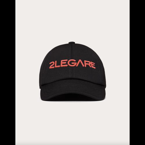 2LEGARE Logo Embroidery Cap - Black/Neon Pink